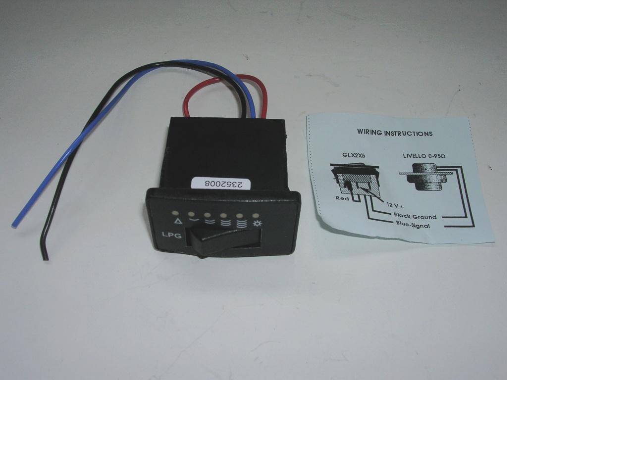 3-Wegeschalter mit LED-Anzeige - Autogas Webshop