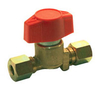 Reca Quick service valve 2xØ8mm olive type brass