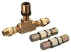 Inline safety set for Ø6mm copper pipe w/check valves
